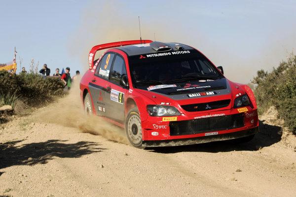 2005 World Rally ChampionshipRallye d'Italia, Sardinia, Italy. 29th April - 1st May 2005Harri Rovanpera (Mitsubishi Lancer WR05), action.World Copyright: McKlein/LAT Photographicref: Digital Image Only