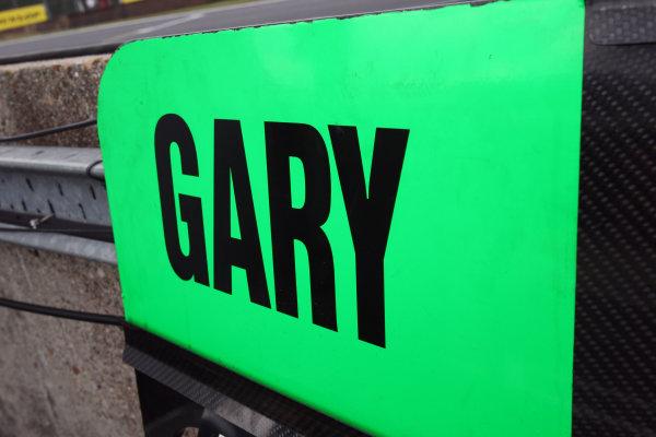 Gary Paffett (GBR) pit board.DTM, Rd7, Brands Hatch, England, 3-5 September 2010.World Copyright: LAT Photographicref: dne1004se238