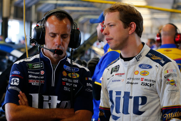 Monster Energy NASCAR Cup Series Quaker State 400 Kentucky Speedway, Sparta, KY USA Friday 7 July 2017 Paul Wolfe and Brad Keselowski, Team Penske, Miller Lite Ford Fusion World Copyright: Russell LaBounty LAT Images