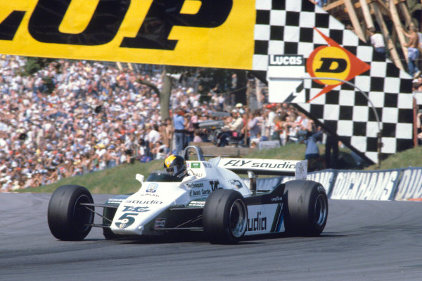1982 British Grand Prix.Brands Hatch, Kent, Great Britain. 18 July 1982.Derek Daly (Williams FW08-Ford Cosworth).World Copyright:LAT Photographic