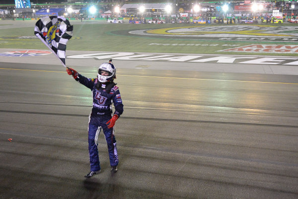6-7 July, 2016, Sparta, Kentucky USA William Byron celebrates his victory ?2016, Logan Whitton  LAT Photo USA