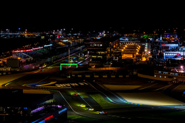 2016 Le Mans 24 Hours. Circuit de la Sarthe, Le Mans, France. Sunday 19 June 2016. A view of the Ford Chicane and start/finish straight during the race. World Copyright: Zak Mauger/LAT Photographic ref: Digital Image _79P8367