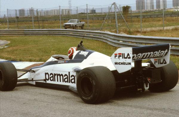Rio de Janeiro, Brazil.11-13 March 1983.Nelson Piquet (Brabham BT52 BMW) 1st position.Ref-83 BRA 04.World Copyright - LAT Photographic
