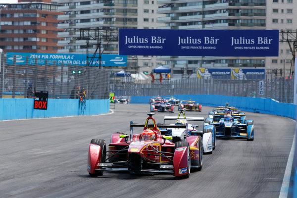2014 Formula E  Punta Del Este e-Prix, Uruguay Saturday 13 December 2014. Nelson Piquet Jr (BRA)/China Racing - Spark-Renault SRT_01E  Photo: Sam Bloxham/LAT/Formula E ref: Digital Image _14P5502