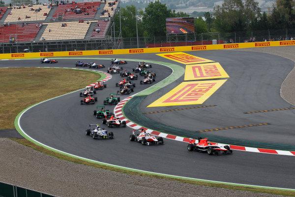 2014 GP3 Series Round 1 - Race 2. Circuit de Catalunya, Barcelona, Spain. Sunday 11 May 2014. Dean Stoneman (GBR, Marussia Manor Racing) Photo: Sam Bloxham/GP3 Series Media Service. ref: Digital Image _G7C7498