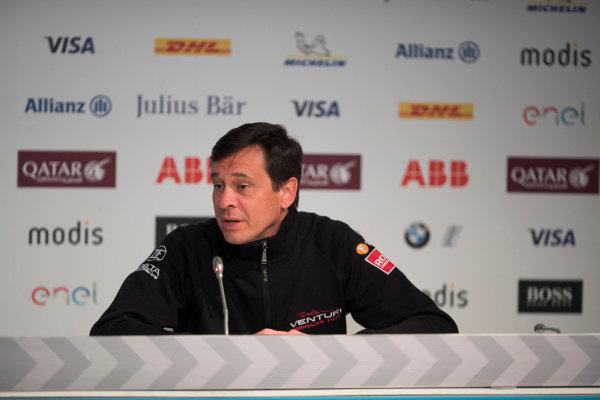 Frank Baldet, Venturi Formula E, in the Friday Press Conference.