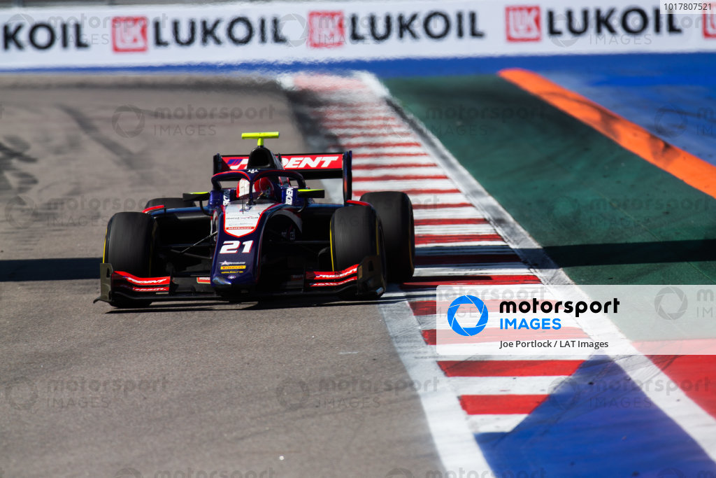 SOCHI AUTODROM, RUSSIAN FEDERATION - SEPTEMBER 29: Ralph Boschung (CHE, TRIDENT) during the Sochi at Sochi Autodrom on September 29, 2019 in Sochi Autodrom, Russian Federation. (Photo by Joe Portlock / LAT Images / FIA F2 Championship)