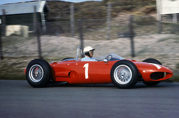 Phil Hill (USA) Ferrari 156 finished third in the opening race of the season.  Formula One World Championship, Rd1, Dutch Grand Prix, Zandvoort, Holland, 20 May 1962.