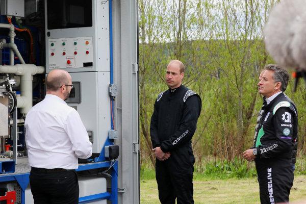 Adam Bond, CEO, AFC Energy, HRH Prince William, Duke of Cambridge, and Alejandro Agag, CEO, Extreme E