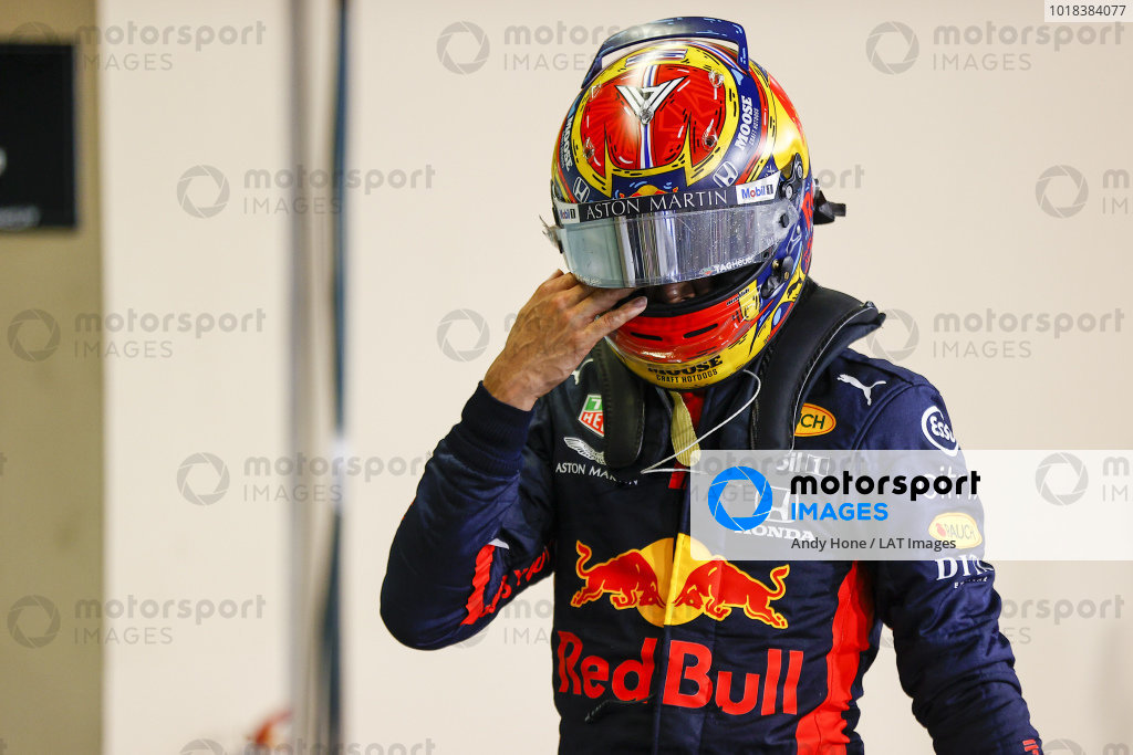 Alexander Albon, Red Bull Racing, in Parc Ferme