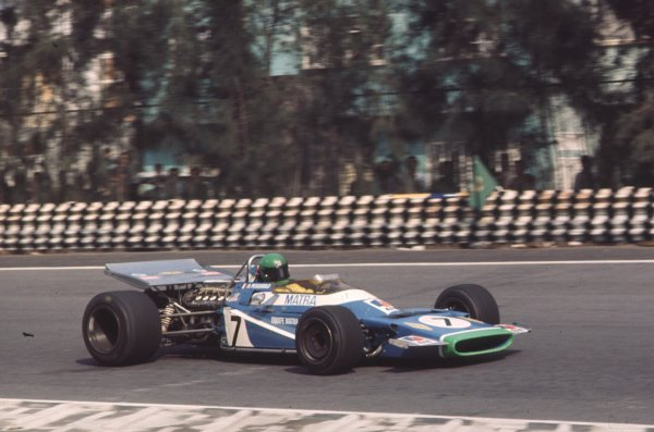 1970 Mexican Grand Prix.Mexico City, Mexico.23-25 October 1970.Henri Pescarolo (Matra-Simca MS120) 9th position.Ref-70 MEX 38.World Copyright - LAT Photographic