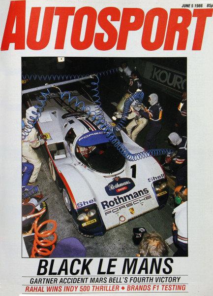 Cover of Autosport magazine, 5th June 1986