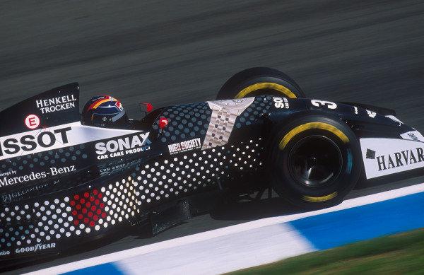 1994 European Grand Prix.Jerez, Spain.14-16 October 1994.Heinz-Harald Frentzen (Sauber C13 Mercedes) 6th position.Ref-94 EUR 17.World Copyright - LAT Photographic