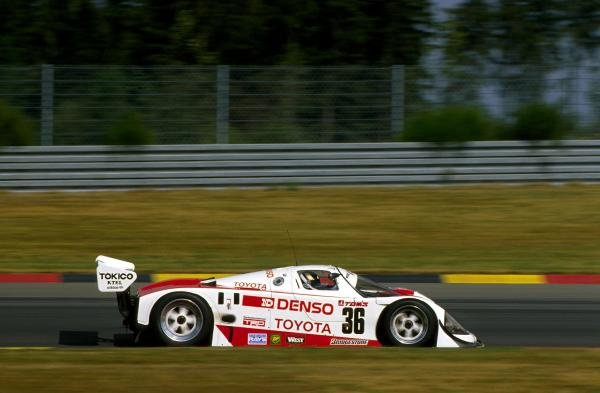 Johnny Dumfries (GBR) TOM'S Toyota 90 CV finished in 18th place.World Sportscar Championship, Spa Francorchamps, 3 June 1990.BEST IMAGE