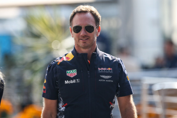 Christian Horner (GBR) Red Bull Racing Team Principal at Formula One World Championship, Rd18, Mexican Grand Prix, Race, Circuit Hermanos Rodriguez, Mexico City, Mexico, Sunday 29 October 2017.
