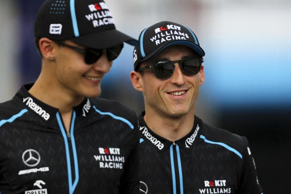 George Russell, Williams Racing and Robert Kubica, Williams Racing