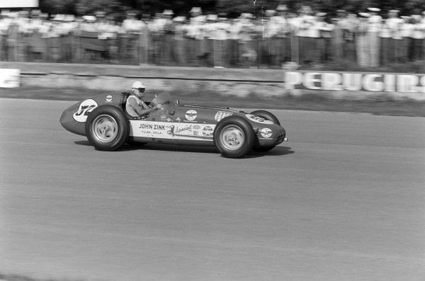 Troy Ruttman, John Zink Racing, Watson Offenhauser.