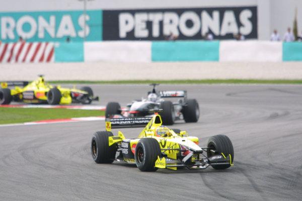 2001 Malaysian Grand Prix.Sepang, Kuala Lumpur, Malaysia. 16-18 March 2001.Jarno Trulli (Jordan EJ11 Honda) 8th position.World Copyright - LAT Photographicref: 8 9MB DIGITAL IMAGE