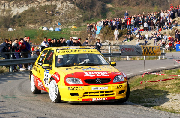 2002 World Rally ChampionshipRally Catalunya, 21st-24th March 2002.Daniel Sola on Stage 13. Winner of the Junior WRC category.Photo: Ralph Hardwick/LAT