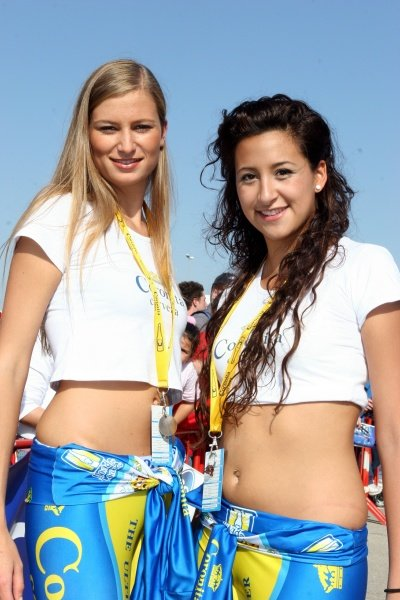 Coronita beer girls in the service park.
