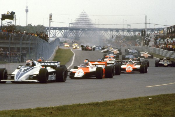 1982 Canadian Grand Prix.Montreal, Canada. 13 June 1982.The start line accident in which Riccardo Paletti, Osella FA1C-Ford, crashed into Didier Pironi, Ferrari 126C2, and lost his life.World Copyright: LAT PhotographicRef: 35mm transparency 82CAN36