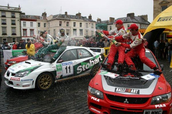 BRC PodiumJim Clark Rally2006 British Rally ChampionshipKelso, ScotlandWorldwide copyright: Ebrey/LAT Photographic