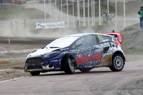 2014 FIA World Rallycross Championship Round 05 H?ljes, Sweden 5th & 6th July 2014 Sebastian Eriksson, Ford, puncture Worldwide Copyright: McKlein/LAT