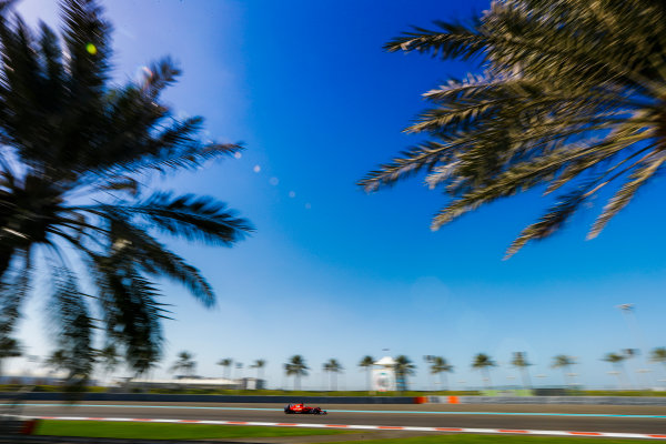 Yas Marina Circuit, Abu Dhabi, United Arab Emirates. Wednesday 29 November 2017. Sebastian Vettel, Ferrari SF70H. World Copyright: Joe Portlock/LAT Images  ref: Digital Image _R3I4283
