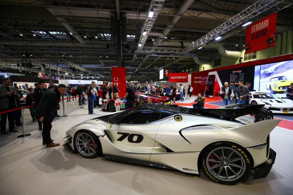Autosport International Exhibition. National Exhibition Centre, Birmingham, UK. Sunday 14th January, 2018. The Ferrari stand.World Copyright: Mike Hoyer/JEP/LAT Images Ref: AQ2Y9569