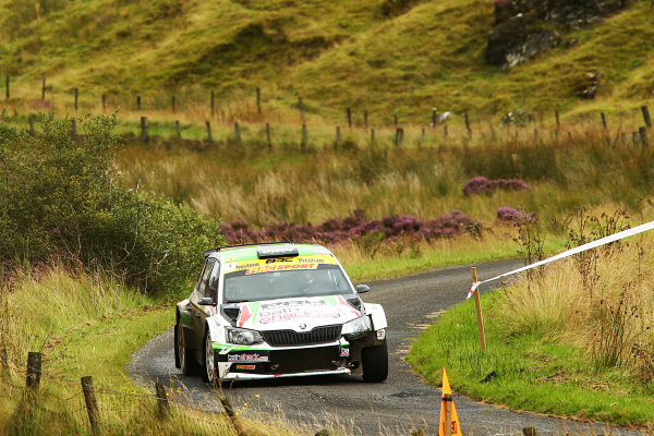 2017 British Rally Championship, Ulster Rally, Londonderry. 18th - 19th August 2017. Desi Henry / Liam Moynihan Skoda Fabia R5 World Copyright: JEP/LAT Images.