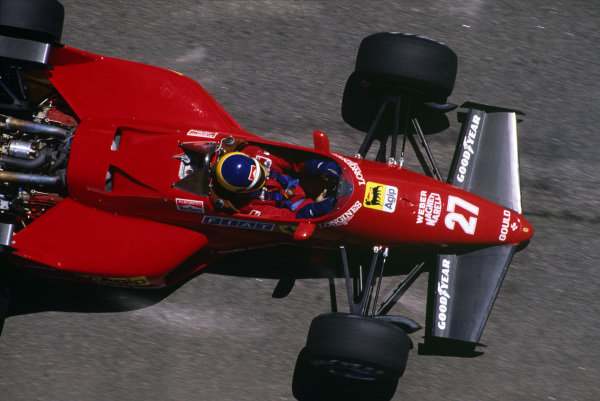 Jacarepagua, Rio de Janeiro, Brazil.23-25 March 1984.Michele Alboreto (Ferrari 126C4), retired, action.Ref-84 BRA 09.World Copyright - LAT Photographic