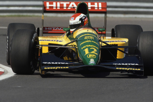 1992 Canadian Grand Prix.  Montreal, Quebec, Canada. 12-14th June 1992.  Johnny Herbert, Lotus 107-Ford, retired.  Ref: 92CAN21. World Copyright: LAT Photographic