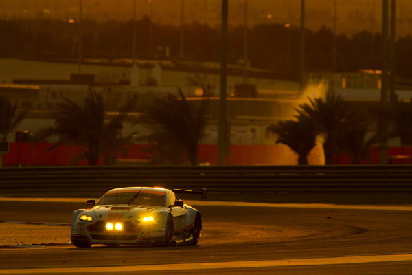2015 FIA World Endurance Championship Bahrain 6-Hours Bahrain International Circuit, Bahrain Saturday 21 November 2015. Francesco Castellacci, Roald Goethe, Stuart Hall (#96 GTE AM Aston Martin Racing Aston Martin Vantage V8). World Copyright: Sam Bloxham/LAT Photographic ref: Digital Image _G7C1702