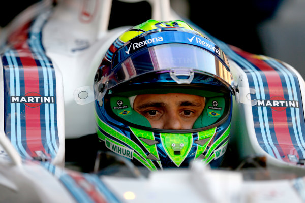 Circuit de Catalunya, Barcelona, Spain Thursday 25 February 2016. Felipe Massa, Williams Martini Racing. World Copyright: Glenn Dunbar/LAT Photographic ref: Digital Image _89P6644