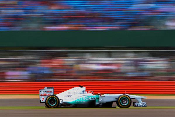 Silverstone, Northamptonshire, England 9th July 2011 Michael Schumacher, Mercedes GP W02. Action.  World Copyright: Steve Etherington/LAT Photographic ref: Digital Image SNE22261