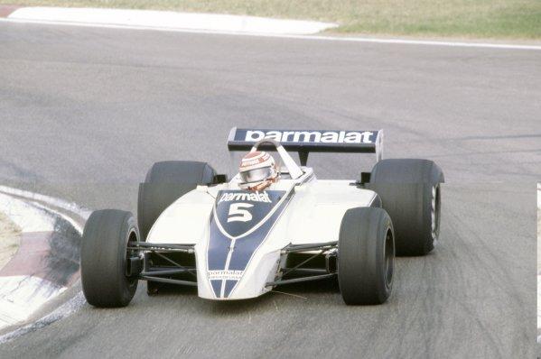 1980 Italian Grand Prix.Imola, Italy. 12-14 September 1980.Nelson Piquet (Brabham BT49-Ford Cosworth), 1st position.World Copyright: LAT PhotographicRef: 35mm transparency 80ITA01