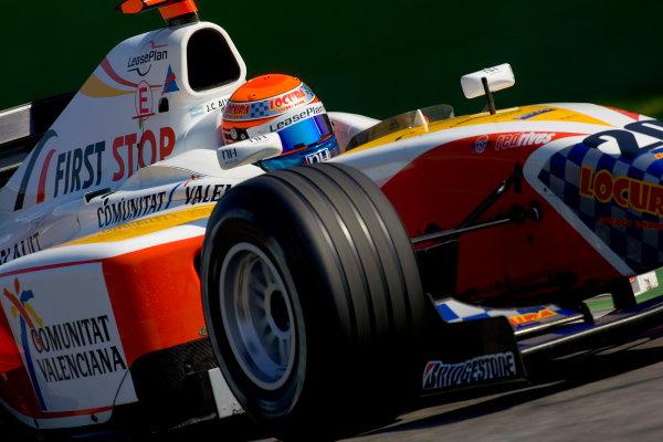 2005 GP2 Series - ImolaAutodromo Enzo e Dino Ferrari, Italy. 21st - 24th April.Friday QualifyingJuan Cruz Alvarez (RA, Campos Racing). Action. Photo: GP2 Series Media Serviceref: Digital Image Only.