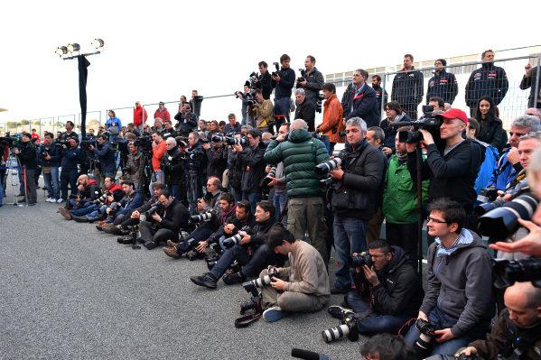 Photographers. Scuderia Toro Rosso STR9 Launch, Jerez, Spain, Monday 27 January 2014.