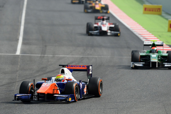 Axcil Jefferies (ZIM) Trident. GP2 Series, Rd2, Barcelona, Spain, 9-11 May 2014.