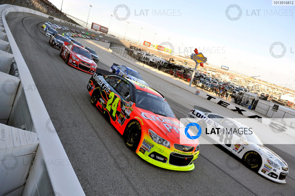 11-13 April, 2013, Fort Worth, Texas USA Jeff Gordon and Jimmie Johnson ©2013, Nigel Kinrade LAT Photo USA