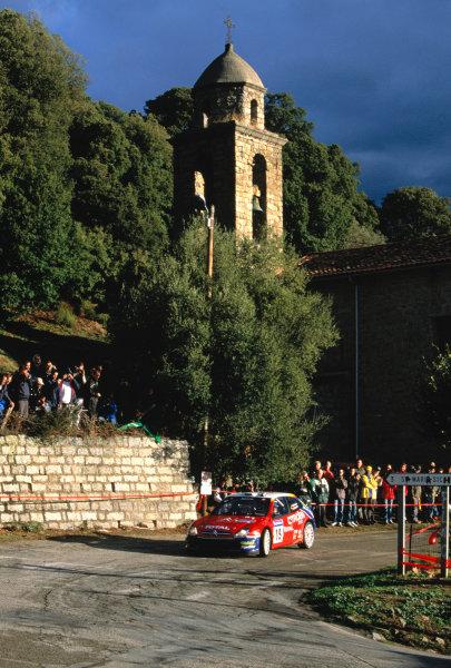 2003 World Rally ChampionshipTour De Corsica. 15th - 19th October 2003.Carlos Sainz/ MarcMarti (Citroen Xsara WRC),Scenic.World Copyright: McKlien/ LAT Photographicref: 35mm Corsica 07