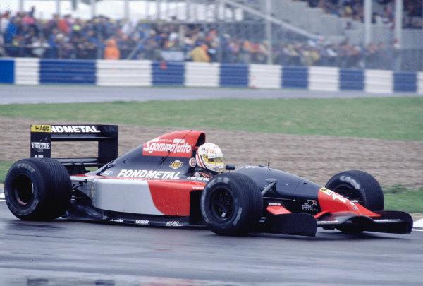 1992 British Grand Prix.Silverstone, England. 10-12 July 1992.Gabriele Tarquini (Fondmetal GR02 Ford).Ref-92 GB 49.World Copyright - LAT Photographic