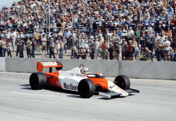 1983 United States Grand Prix West.Long Beach, California, USA.25-27 March 1983.John Watson (McLaren MP4/1C Ford) 1st position.Ref-83 LB 44.World Copyright - LAT Photographic