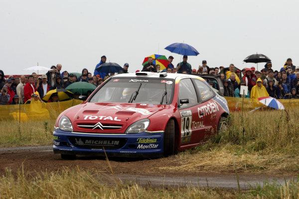 2003 FIA World Rally Champs. Round eight, Deutschland Rally24th-27th July 2003.Carlos Sainz, Citroen, action. World Copyright: McKlein/LAT
