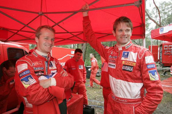 2004 FIA World Rally Champs. Round Sixteen, Rally Australia.11th - 14th November 2004.Marcus Gronholm & Harri Rovanpera, Peugeot, portrait.World Copyright: McKlein/LAT