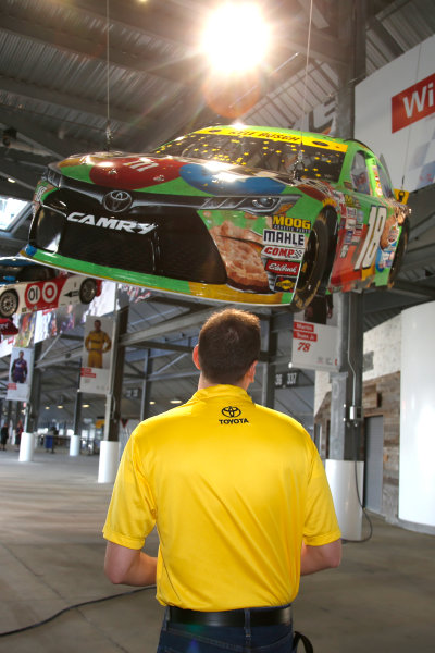 2017 NASCAR Cup - Clash at Daytona Daytona International Speedway, Daytona Beach, FL USA Friday 17 February 2017 A model of Kyle Busch's 2015 Toyota Camry is raised to the rafters in the Toyota Injector at Daytona International Speedway World Copyright: Lesley Ann Miller/LAT Images ref: Digital Image _LAM9936