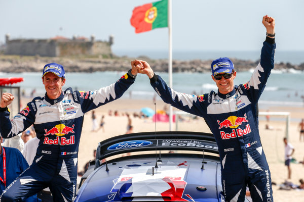 2017 FIA World Rally Championship, Round 06, Rally Portugal, May 18 - 21 2017, Sebastien Ogier, Julien Ingrassia, Ford, Podium, Worldwide Copyright: McKlein/LAT