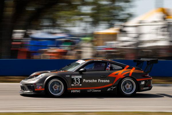 2017 Porsche GT3 Cup USA Sebring International Raceway, Sebring, FL USA Friday 17 March 2017 33, CJ Wilson, GT3P, USA, 2017 Porsche 991 World Copyright: Jake Galstad/LAT Images ref: Digital Image lat-galstad-SIR-0317-14693