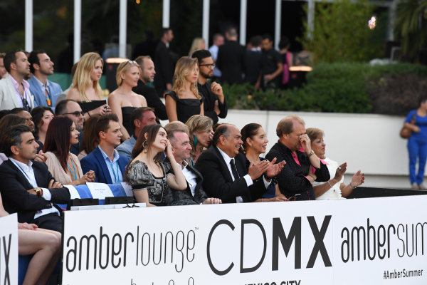 Monte Carlo, Monaco. Friday 26 May 2017. Paddy Lowe (GBR) Williams Shareholder and Technical Director and wife Anna Danshina (RUS) at the Amber Lounge Fashion Show, Le Meridien Beach Plaza Hotel, Monaco World Copyright: Mark Sutton/Sutton/LAT Images ref: Digital Image dcd1727my373