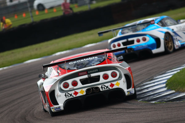 Michelin Ginetta GT4 SuperCup Rockingham, 26th-27th August 2017, Jac Constable Xentek Motorsport Ginetta G55  World copyright.. JEP/LAT Images